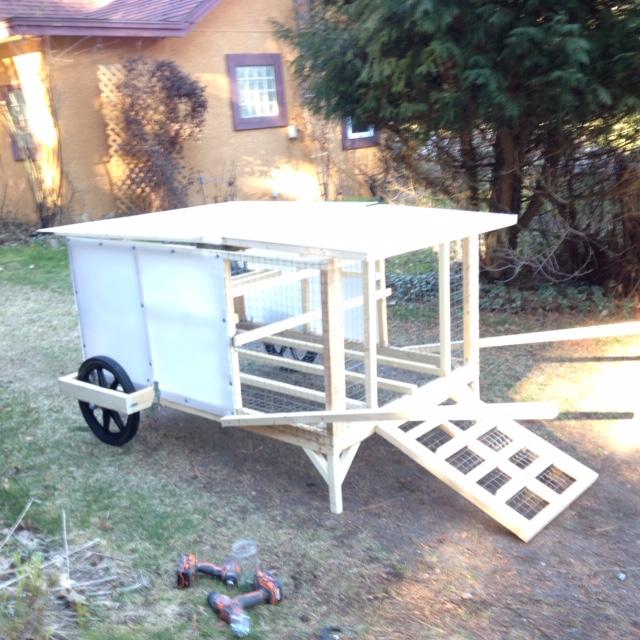 Mini-Chickshaw - mobile chicken house - Rose Hill Farm